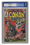 Bronze Age (1970-1979):Miscellaneous, Conan the Barbarian #62 (Marvel, 1976) CGC NM/MT 9.8 White pages.Gil Kane and John Romita Sr. cover. John Buscema art. This...