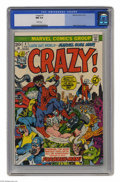 Bronze Age (1970-1979):Humor, Crazy! #1 (Marvel, 1973) CGC NM 9.4 White pages. Marie Severin cover. This is currently the highest grade awarded by CGC for...