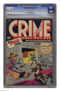 Golden Age (1938-1955):Crime, Crime Does Not Pay #31 (Lev Gleason, 1944) CGC FN+ 6.5 Off-white to white pages. Charles Biro cover. Overstreet 2004 FN 6.0 ...