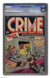 Crime Does Not Pay #31 (Lev Gleason, 1944) CGC FN+ 6.5 Off-white to white pages. Charles Biro cover. Overstreet 2004 FN...