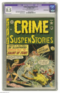 Golden Age (1938-1955):Horror, Crime SuspenStories #4 (EC, 1951) CGC Apparent VF+ 8.5Trimmed/Married - Cream to off-white pages. Johnny Craig cover.Craig...