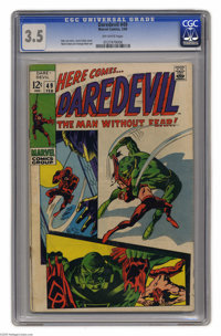 Daredevil #49 (Marvel, 1969) CGC VG- 3.5 Off-white pages. First appearance of Starr Saxon. Gene Colan cover and art. Ove...