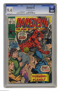 Daredevil #70 (Marvel, 1970) CGC NM 9.4 Off-white to white pages. Marie Severin and Bill Everett cover art. Gene Colan a...