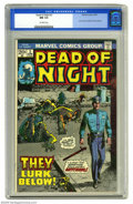Bronze Age (1970-1979):Horror, Dead of Night #3 (Marvel, 1974) CGC NM 9.4 Off-white pages. JohnForte and Matt Fox story reprints. This is currently the hi...