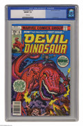 Bronze Age (1970-1979):Miscellaneous, Devil Dinosaur #1 (Marvel, 1978) CGC NM/MT 9.8 White pages. JackKirby cover and art. Only one copy currently grades higher ...