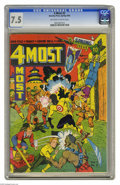 """Golden Age (1938-1955):War, 4 Most #2 (Novelty Press, 1942) CGC VF- 7.5 Off-white to whitepages. Jim Mooney cover. A Gerber """"6."""" Overstreet 2004 VF 8.0..."""