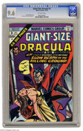 Bronze Age (1970-1979):Horror, Giant-Size Dracula #3 (Marvel, 1974) CGC NM+ 9.6 Off-white pages.Don Heck art. Overstreet 2004 NM- 9.2 value = $22. CGC cen...