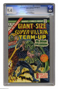 Bronze Age (1970-1979):Superhero, Giant-Size Super-Villain Team-Up #1 (Marvel, 1975) CGC NM 9.4 Off-white to white pages. Doctor Doom and the Sub-Mariner are ...