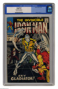Silver Age (1956-1969):Superhero, Iron Man #7 (Marvel, 1968) CGC VG/FN 5.0 Cream to off-white pages. Iron Man faces the Gladiator as well as the Maggia. Georg...