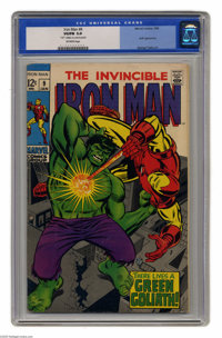 Iron Man #9 (Marvel, 1969) CGC VG/FN 5.0 Off-white pages. Iron Man battles an android disguised as the Hulk. George Tusk...