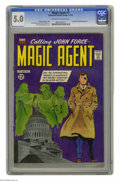 Silver Age (1956-1969):Mystery, Magic Agent #1 (ACG, 1962) CGC VG/FN 5.0 Off-white to white pages.Origin and first appearance of John Force. President Kenn...