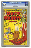 Golden Age (1938-1955):Funny Animal, Rags Rabbit Comics #11 (Harvey, 1951) CGC VF 8.0 Light tan tooff-white pages. This is currently the highest grade awarded b...