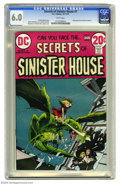 Bronze Age (1970-1979):Horror, Secrets of Sinister House #7 (DC, 1972) CGC FN 6.0 White pages.Michael Kaluta cover. Nestor Redondo, June Lofamia, and Sam ...