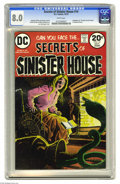 """Bronze Age (1970-1979):Horror, Secrets of Sinister House #14 (DC, 1973) CGC VF 8.0 White pages.Adaptation of """"The Man and the Snake"""" by Ambrose Bierce. Lu..."""