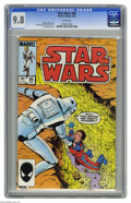 Modern Age (1980-Present):Science Fiction, Star Wars #86 (Marvel, 1984) CGC NM/MT 9.8 White pages. Bob McLeodcover and art. This currently is the highest CGC grade aw...
