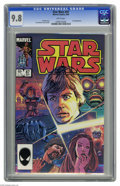 Modern Age (1980-Present):Science Fiction, Star Wars #87 (Marvel, 1984) CGC NM/MT 9.8 White pages. Kiroappearance. Tom Palmer cover and art. This is currently the hig...