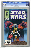 Modern Age (1980-Present):Science Fiction, Star Wars #89 (Marvel, 1984) CGC NM+ 9.6 White pages. Bret Blevinscover and art. Overstreet 2004 NM- 9.2 value = $12. CGC c...