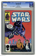 Modern Age (1980-Present):Science Fiction, Star Wars #93 (Marvel, 1985) CGC NM+ 9.6 White pages. Sal Buscemaand Tom Palmer art. Overstreet 2004 NM- 9.2 value = $15. C...