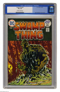 Bronze Age (1970-1979):Horror, Swamp Thing #9 (DC, 1974) CGC VG+ 4.5 Off-white to white pages.Bernie Wrightson cover and art. Overstreet 2004 VG 4.0 value...