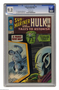 Tales to Astonish #72 (Marvel, 1965) CGC NM- 9.2 Off-white pages. Hulk and Sub-Mariner features. Gene Colan cover. Colan...
