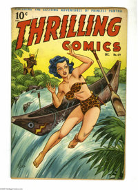 Thrilling Comics #69 (Better Publications, 1948) Condition: FN. Alex Schomburg cover. Lin Streeter, George Tuska, Art Sa...