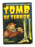 Golden Age (1938-1955):Horror, Tomb of Terror #9 and 12 Group (Harvey, 1953). Issue #9 is GD+; #12is VG. Approximate Overstreet value for group = $120. ...(Total: 2 Comic Books Item)