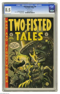 Two-Fisted Tales #30 (EC, 1952) CGC VF+ 8.5 Off-white pages. Jack Davis cover. Davis, Wally Wood, and Gene Colan art. Ov...