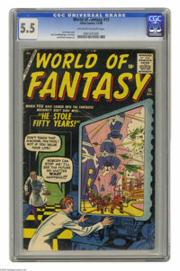 World of Fantasy #15 (Atlas, 1958) CGC FN- 5.5 Off-white to white pages. Jack Kirby cover. Kurt Schaffenberger, Joe Cert...