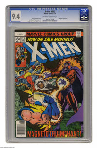 X-Men #112 (Marvel, 1978) CGC NM 9.4 Off-white to white pages. Magneto, Wolverine, Storm, and Colossus appear. George Pe...