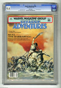 Modern Age (1980-Present):Science Fiction, Bizarre Adventures #26 (Marvel, 1981) CGC NM 9.4 White pages.Featuring Robert E. Howard's Kull the Barbarian. John Bolton c...