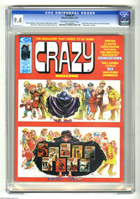Crazy Magazine #9 (Marvel, 1975) CGC NM 9.4 Off-white to white pages. Kelly Freas cover. Will Eisner story and art. Othe...