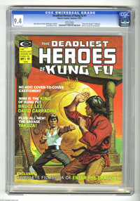 The Deadliest Heroes of Kung Fu #1 (Marvel, 1975) CGC NM 9.4 White pages. John Warner and Don McGregor articles. Earl No...