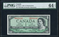 Canadian Currency, BC-37bA-i $1 1954 *B/M Replacement PMG Choice Uncirculated 64 EPQ.....