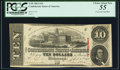 Confederate Notes:1863 Issues, T59 $10 1863 PF-9 Cr. UNL PCGS Choice About New 55.. ...