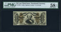 Fractional Currency:Third Issue, Fr. 1338 50¢ Third Issue Spinner PMG Choice About Unc 58 EPQ.. ...