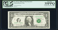 Error Notes:Obstruction Errors, Web Error Partially Obstructed Overprint Fr. 1917-G $1 1988AFederal Reserve G-Q Block Run 8 Plate Combo 4-6 Web Note PCGSVer...