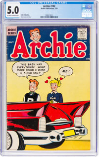 Archie Comics #102 (Archie, 1959) CGC VG/FN 5.0 Off-white to white pages