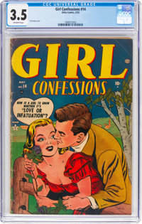 Girl Confessions #14 (Atlas, 1952) CGC VG- 3.5 Off-white pages