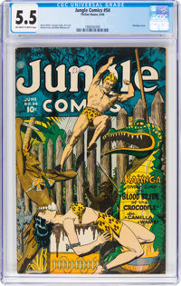 Jungle Comics #54 (Fiction House, 1944) CGC FN- 5.5 Off-white to white pages
