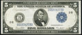 Fr. 851c $5 1914 Federal Reserve Note Fine-Very Fine