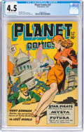 Golden Age (1938-1955):Science Fiction, Planet Comics #57 (Fiction House, 1948) CGC VG+ 4.5 Off-white to white pages....