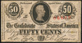 Confederate Notes:1863 Issues, T63 50 Cents 1863 PF-2 Cr. UNL Very Fine.. ...