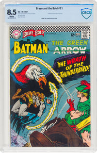 The Brave and the Bold #71 Batman and Green Arrow (DC, 1967) CBCS VF+ 8.5 White pages