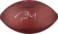 Football Collectibles:Balls, 2010 New England Patriots Game Used Football Signed by Tom Brady with NFL Auction COA. ...