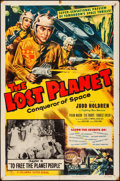 """Movie Posters:Serial, The Lost Planet (Columbia, 1953) Folded, Fine/Very Fine. One Sheet (27"""" X 41"""") Chapter 10 -- """"To Free the Planet People."""" Gl..."""