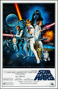"Star Wars (20th Century Fox, 1977) Folded, Very Fine. International One Sheet (27"" X 41"") Style C, Tom Chantre..."