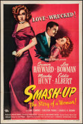 "Movie Posters:Drama, Smash-Up: The Story of a Woman (Universal International, 1947)Folded, Very Fine-. One Sheet (27"" X 41""). Drama.. ..."