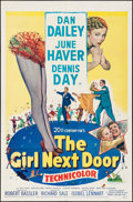 """Movie Posters:Comedy, The Girl Next Door (20th Century Fox, 1953). Folded, Very Fine-. One Sheet (27"""" X 41""""). Comedy.. ..."""