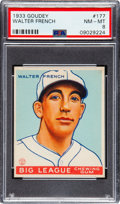 Baseball Cards:Singles (1930-1939), 1933 Goudey Walter French #177 PSA NM-MT 8 - Only Two Higher. ...