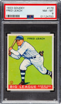 Baseball Cards:Singles (1930-1939), 1933 Goudey Fred Leach #179 PSA NM-MT 8 - Only Two Higher. ...